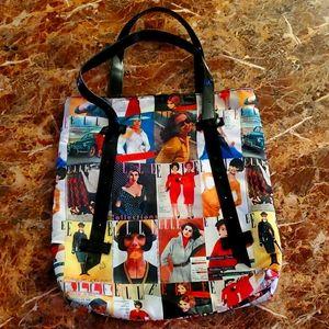 ELLE Magazine Retro Covers Tote Bag Purse Shopper